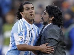 Тевес и Марадона на чемпионате мира