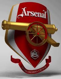 Эмблема арсенала на входе в стадион